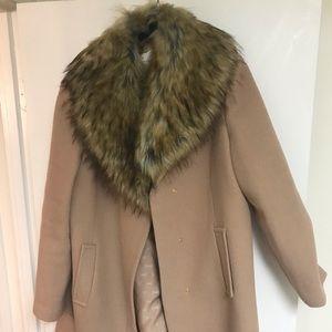 Kate Spade Faux Fur Camel Colored Jacket